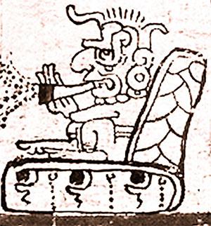 Рисунок Майя, курение