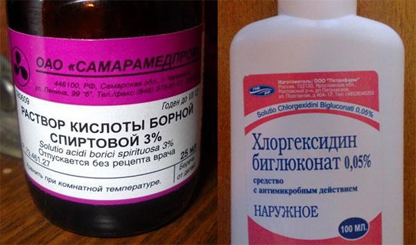 Сравнение борной кислоты и других антисептиков
