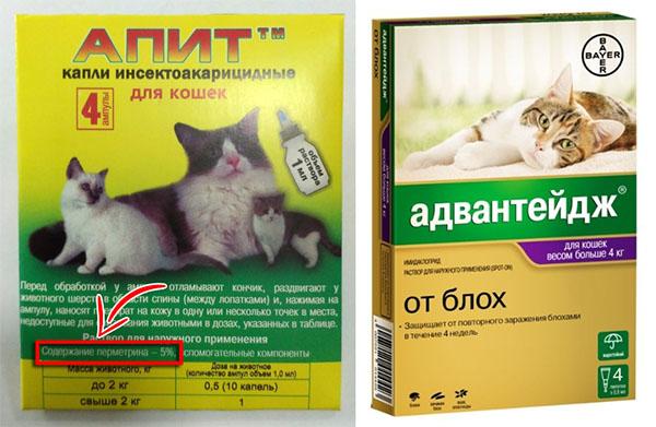 Препараты от блох для кошек